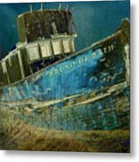 Midnight Shipwreck Metal Print