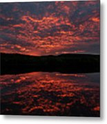 Midnight Sun In Norbotten Metal Print