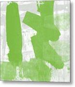 Midori- Abstract Art By Linda Woods Metal Print