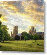 Midsummer Evening In Ely Metal Print