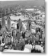 Midtown And Central Park View Metal Print