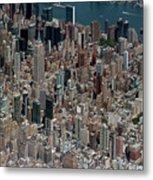 Midtown East Manhattan Skyline Aerial   Metal Print