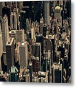 Midtown Manhattan Skyline Aerial Metal Print