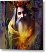 Midwinter Solstice Fire Lord Metal Print