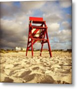 Mighty Red Metal Print