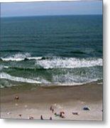 Mighty Ocean Aerial View Metal Print