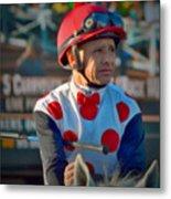 Mike Smith- Horse Jockey Metal Print