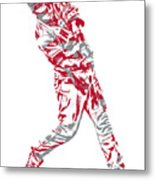 Mike Trout Los Angeles Angels Pixel Art 20 Metal Print