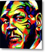 Mike Tyson Abstract Metal Print