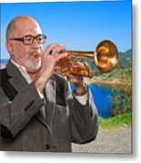 Mike Vax Professional Trumpet Player Photographic Print 3761.02 Metal Print