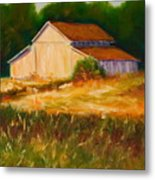 Mike's Barn Metal Print