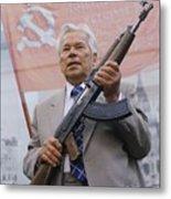 Mikhail Kalashnikov, Russian Gun Designer Metal Print