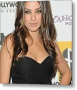 Mila Kunis At Arrivals For 14th Annual Metal Print