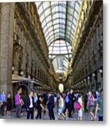 Milan Shopping Mall Metal Print