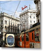 Milan Trolley 4 Metal Print