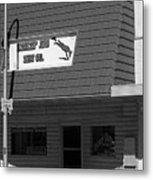 Miles City, Montana - Downtown Bw Metal Print