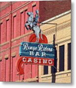 Miles City, Montana - Downtown Casino Metal Print