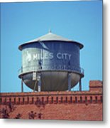 Miles City, Montana - Water Tower Metal Print