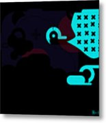 Miles Davis Abstract Metal Print