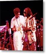 Miles Davis Image 10 And Bob Berg 1985 Your Under Arrest Tour Metal Print