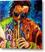 Miles Davis Hot Jazz Portraits By Carole Spandau Metal Print