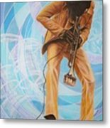 Miles Davis  In A Yellow Suit Metal Print