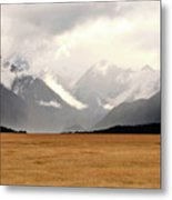 Milford Sound Mountains On South Island New Zealand Metal Print