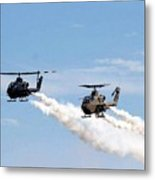 Military Helicopters Metal Print