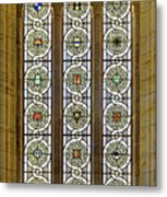 Military Insignia On Stained Glass - Meuse Argonne - East Metal Print