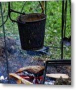 Military Revolutionary War Campfire Vertical Metal Print
