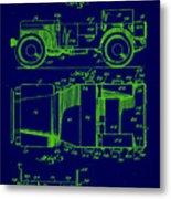 Military Vehicle Body Patent Drawing 1e Metal Print