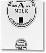 Milk Bottle Caps Metal Print