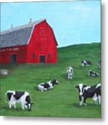 Milking Time Dairy Metal Print