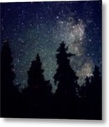 Milky Way Above Northern Forest 22 Metal Print