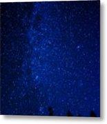 Milky Way And Trees Metal Print