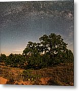 Milky Way Arch Over Enchanted Rock State Natural Area - Fredericksburg Texas Hill Country Metal Print
