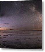 Milky Way At Nautical Twilight Metal Print