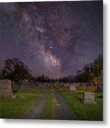 Milky Way Cemetery Metal Print