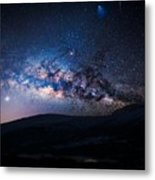 Milky Way Galaxy From Earth Metal Print