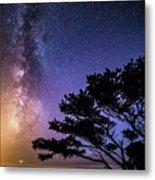 Milky Way In Newport, Or Metal Print