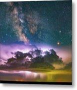 Milky Way Monsoon Metal Print