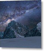 Milky Way On Italian Dolomites Metal Print