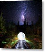 Milky Way Orb Metal Print