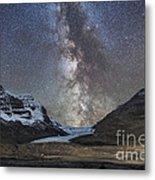 Milky Way Over Athabasca Glacier Metal Print