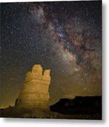 Milky Way Over Castle Rock Metal Print