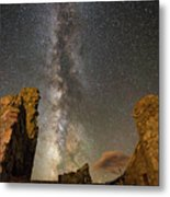 Milky Way Over Crest House Metal Print