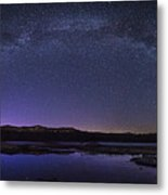 Milky Way Over Lonesome Lake Panorama Metal Print