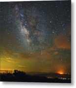 Milky Way Over Tenderfoot Fire Metal Print