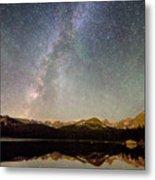 Milky Way Over The Colorado Indian Peaks Metal Print