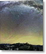 Milky Way Over Yosemite Valley Metal Print